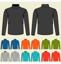 Set of colored turtlenecks templates for men vector image vector image