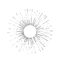 Sun engraving style vector image vector image