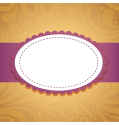 Vintage floral invitation postcard vector image vector image