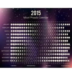 2015 Moon Phases Calendar vector image