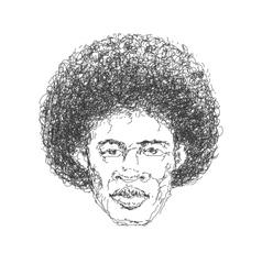 afroamerican man hand drawn eps8 vector image vector image