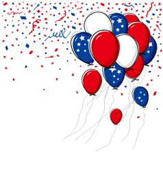 Balloon on white background vector image