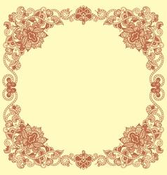 floral vintage frames vector image vector image
