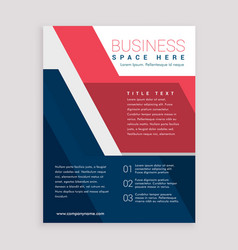 red and blue geometric brochure design template vector image