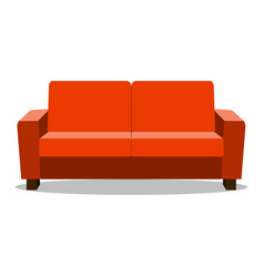 red leather luxury sofa for modern living room vector image