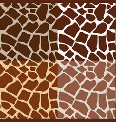 seamless pattern skins giraffe vector image