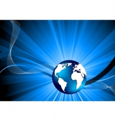 vector background with globe vector image vector image