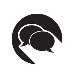 black icon with speech bubbles and stylized shadow vector image