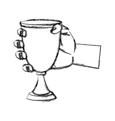 chalice cup symbol vector image