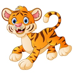 cute tiger cub is smiling vector image