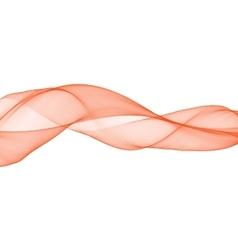 Orange abstract weavy bright smoke silk vector image vector image