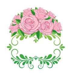vintage floral frame element for design retro vector image