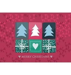 Xmas seasonal card vector