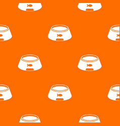 bowl for animal pattern seamless vector image vector image