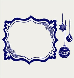 Calligraphic design element and christmas to vector image vector image