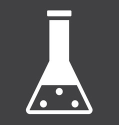chemistry solid icon laboratory and test tube vector image