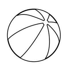 childrens ball black color icon vector image vector image