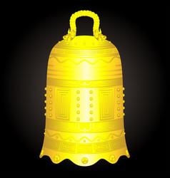 Chinese golden bell artifact vector