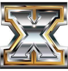 Fancy font Letter X vector image vector image