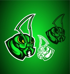 grasshopper green logo vector image vector image