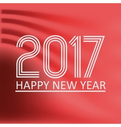 happy new year 2017 on red abstract color vector image vector image