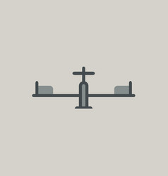 In flat style playground vector