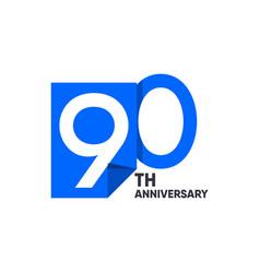 90 th anniversary celebration your company vector