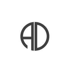 A-d-letter-logo-design vector