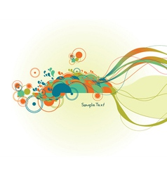 Abstract background with circles vector