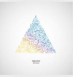 abstract color triangle icon vector image