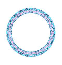 Abstract frame - round circular polygonal design vector