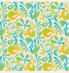 Abstract tropical colorful seamless pattern vector