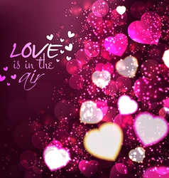 abstract valentine background vector image
