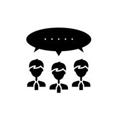 argumentation black icon sign on isolated vector image