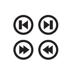 Arrow forward backward previous skip icon vector