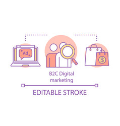 B2c digital marketing concept icon business vector
