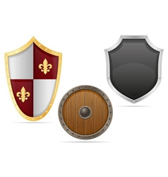 battle shield 04 vector image