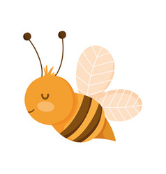 Bee insect farm animal isolated icon on white vector