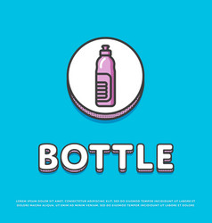 Bottle colour icon in line design vector