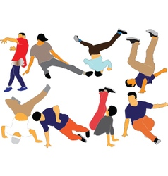 Break dance collection vector