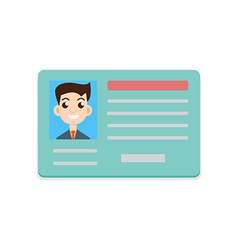 Car driver license icon vector image
