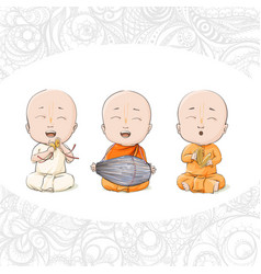 cartoon vaisnava devotees vector image