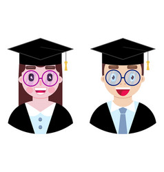 Cheerful and happy students vector