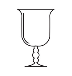 Christian chalice icon vector