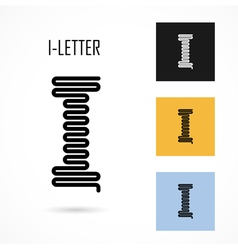 Creative I - letter icon abstract logo design vector