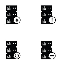 Database icon set vector
