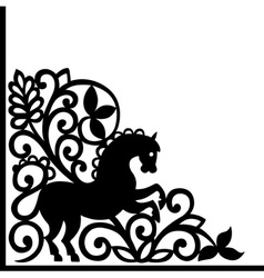 decorative element with horse vector image