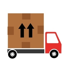 Delivery service with box vector