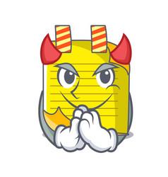 devil checked note paper mascot vector image