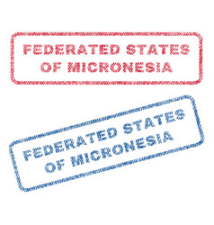 Federated states micronesia textile stamps vector